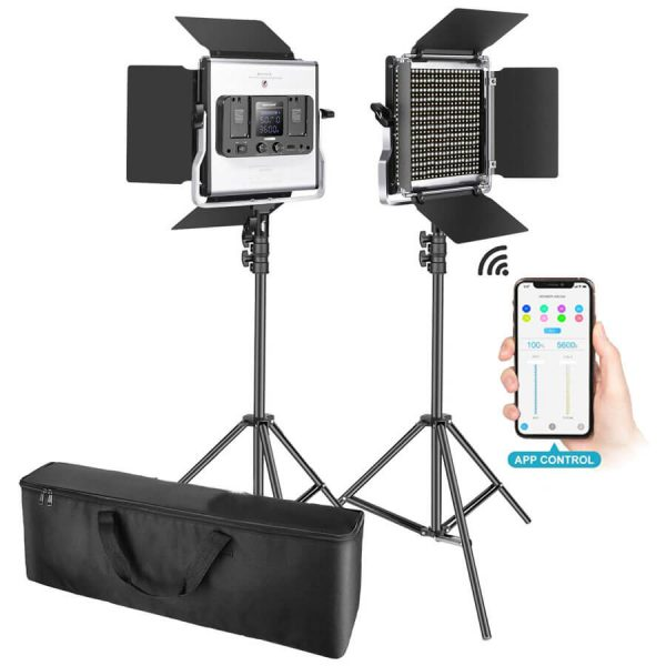 Video led licht panel set